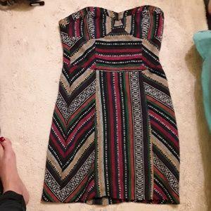 Strapless,genuine,Guatemala dress